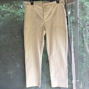 NYDJ Straight Ankle Chino Pants Straw Brown 10 NWT